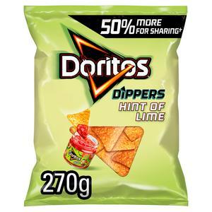 SAINSBURYS > General > Doritos Hint of Lime Sharing Tortilla Chips Crisps 270g