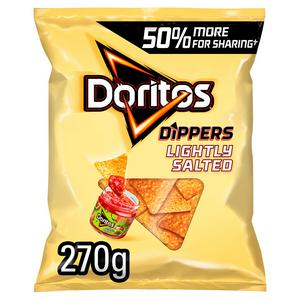 SAINSBURYS > General > Doritos Lightly Salted Sharing Tortilla Chips Crisps 270g