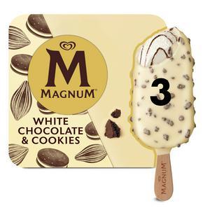 Magnum White Chocolate & Cookies Ice Cream 3 x 90ml