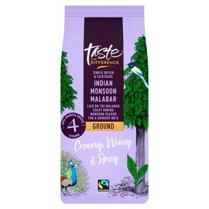 Sainsbury's Fairtrade Indian Monsoon Malabar Ground Coffee, Taste the Difference 227g