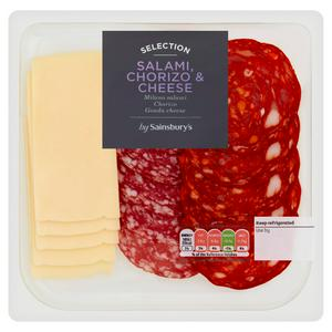 Sainsbury's Continental Meat & Cheese Selec 120g