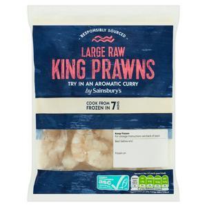 Sainsbury's Large Raw King Prawns 180g