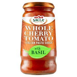 Sacla' Whole Cherry Tomato & Basil Sauce 350g