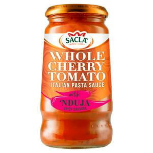 Sacla' Whole Cherry Tomato Italian Pasta Sauce with 'Nduja Spicy Sausage 350g