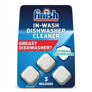 Finish In-Wash Dishwasher Cleaner 3x17g