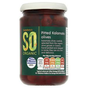 Sainsbury's Pitted Kalamata Olives, SO Organic 295g