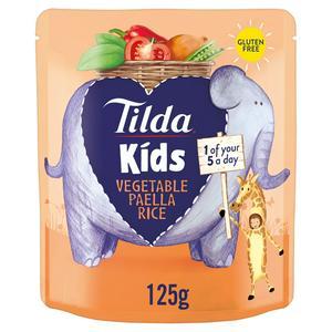 Tilda Kids Vegetable Paella Rice 125g