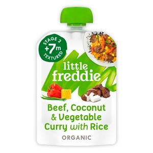 Little Freddie Organic Beef & Coconut Curry with Wild Rice Stage 2 +7m 130g