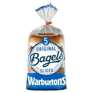 Waburtons Sliced Plain Bagels 5 pack