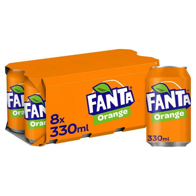 Fanta Orange 8x330ml Sainsbury S