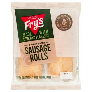 Fry's Vegan Twin Sausage Rolls 160g