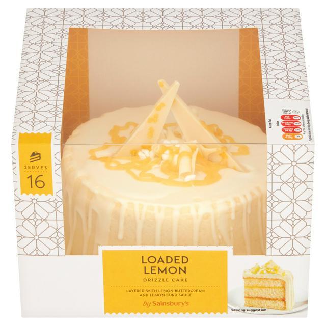 Stupendous Sainsburys Loaded Lemon Drizzle Cake 863G Sainsburys Personalised Birthday Cards Paralily Jamesorg