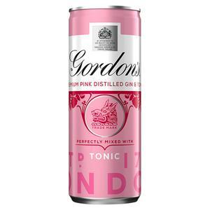 Gordon's Premium Pink Distilled Gin & Tonic 250ml