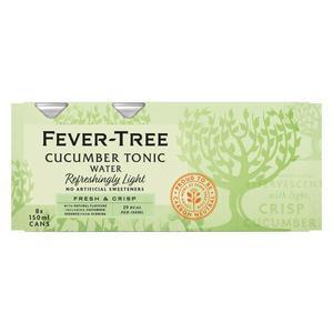 Fever-Tree Refreshingly Light Cucumber Tonic Water 8 x 150ml