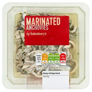 Sainsbury's Intense Marinated Anchovies 145g