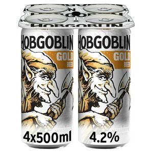 Hobgoblin Gold Ale Beer Cans 4x500ml