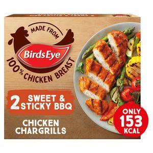 Birds Eye Sweet & Sticky BBQ Chicken Chargrills x2 174g