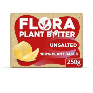 Flora Plant Butter Unsalted Vegan Alternative to Dairy Butter 250g