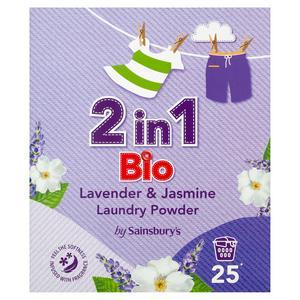 Sainsbury's 2 in 1 Bio Lavender & Jasmine Laundry Powder 1.625kg (25 Washes)