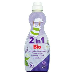 Sainsbury's 2 in 1 Bio Lavender & Jasmine Concentrated Laundry Liquid 750ml