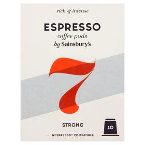 Sainsbury's Espresso Coffee Pods x10 52g