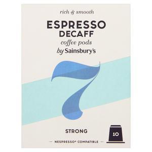 Sainsbury's Espresso Decaf Coffee Pods x10 52g