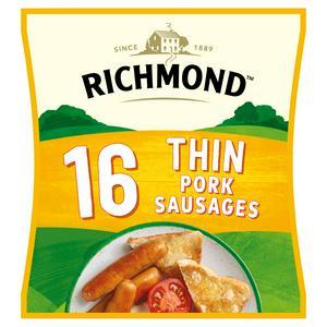 Richmond Thin Frozen Pork Sausages x16 444g