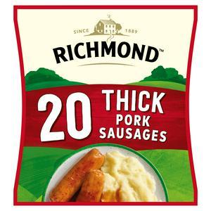 Richmond Thick Frozen Pork Sausages x20 860g