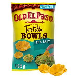 Old El Paso Gluten Free Sea Salt Tortilla Bowls 150g