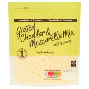 Sainsbury's Grated Cheddar & Mozzarella Mix 250g