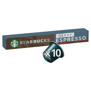 Starbucks by Nespresso Decaf Espresso Coffee x10 Pods, 10 Drinks