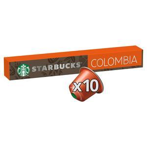 Starbucks by Nespresso Colombia Coffee x10 Pods, 10 Drinks