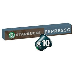 Starbucks by Nespresso Espresso Roast Coffee x10 Pods, 10 Drinks