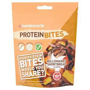 MaxiMuscle Protein Bites Millionaires Shortbread Flavour 110g