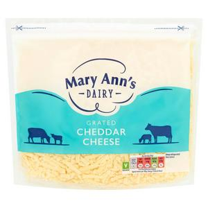 Mary Ann's Dairy Grated Cheddar Cheese 500g