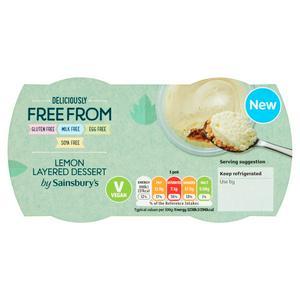 Sainsbury's Deliciously Free From Lemon Layered Dessert 2x80g (160g)