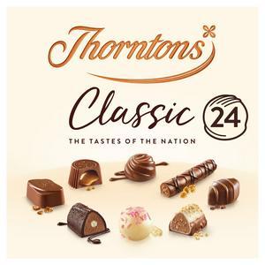 Thorntons Milk, Dark, White Classic Collection Chocolate Box 262g