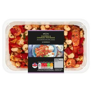 Sainsbury's British Fresh Chicken Traybake with Chorizo & Peppers 1kg