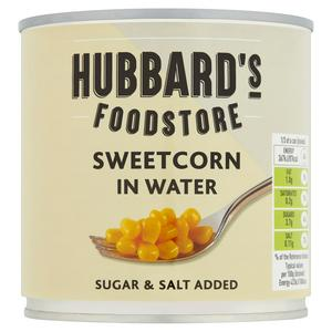 Hubbard's Foodstore Sweetcorn in Water 325g