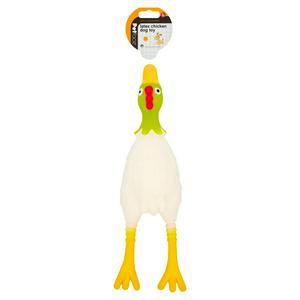 Petface Large Latex Chicken Dog Toy with Squeaker