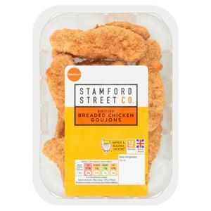 J James & Family Breaded Fresh British Chicken goujons 270g