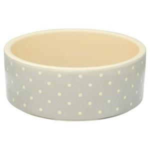 Petface Ceramic Bowl Grey Dots 15cm