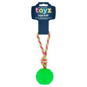 Petface Toyz Rope Ball Dog Toy