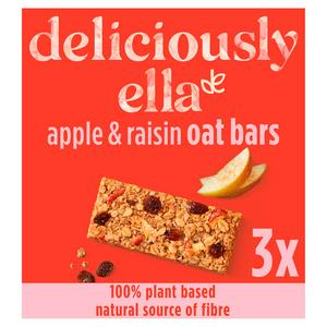 Deliciously Ella Apple, Raisin & Cinnamon Oat Bars 3x50g