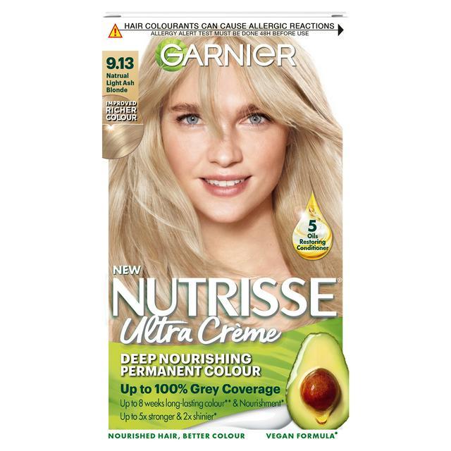Garnier Nutrisse Permanent Hair Dye Natural Light Ash 9 13 Sainsbury S