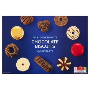 Sainsbury's Milk, Dark & White Chocolate Biscuits 450g