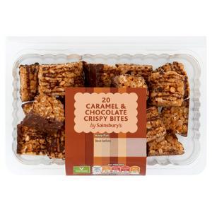 Sainsbury's Crispy Caramel & Chocolate Bites x20