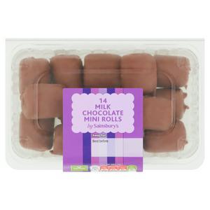 Sainsbury's Milk Chocolate Mini Rolls x14