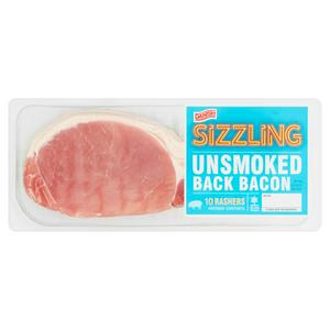 Sizzling Danish Unsmoked Back Bacon 300g