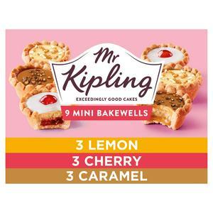 Mr Kipling Mini Bakewell Tart Selection x9